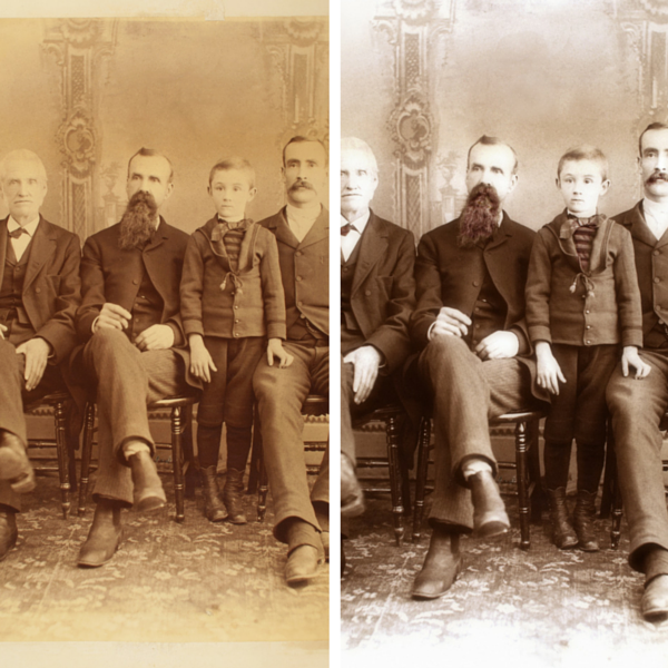 [Image: Look at how we restored this photo to be like new!]
