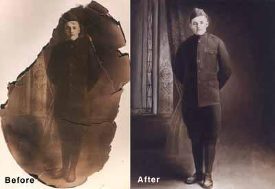 [Image: We can recreate damaged photographs!