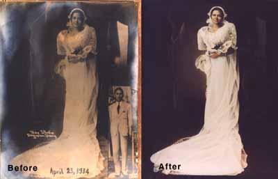 Worn and faded photos can be restored to their original splendor!